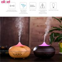 300ml Wood Grain LED Ultrasonic Air Humidifier Aroma Essential Oil Diffuser 7Color Changing LED Lights Electric