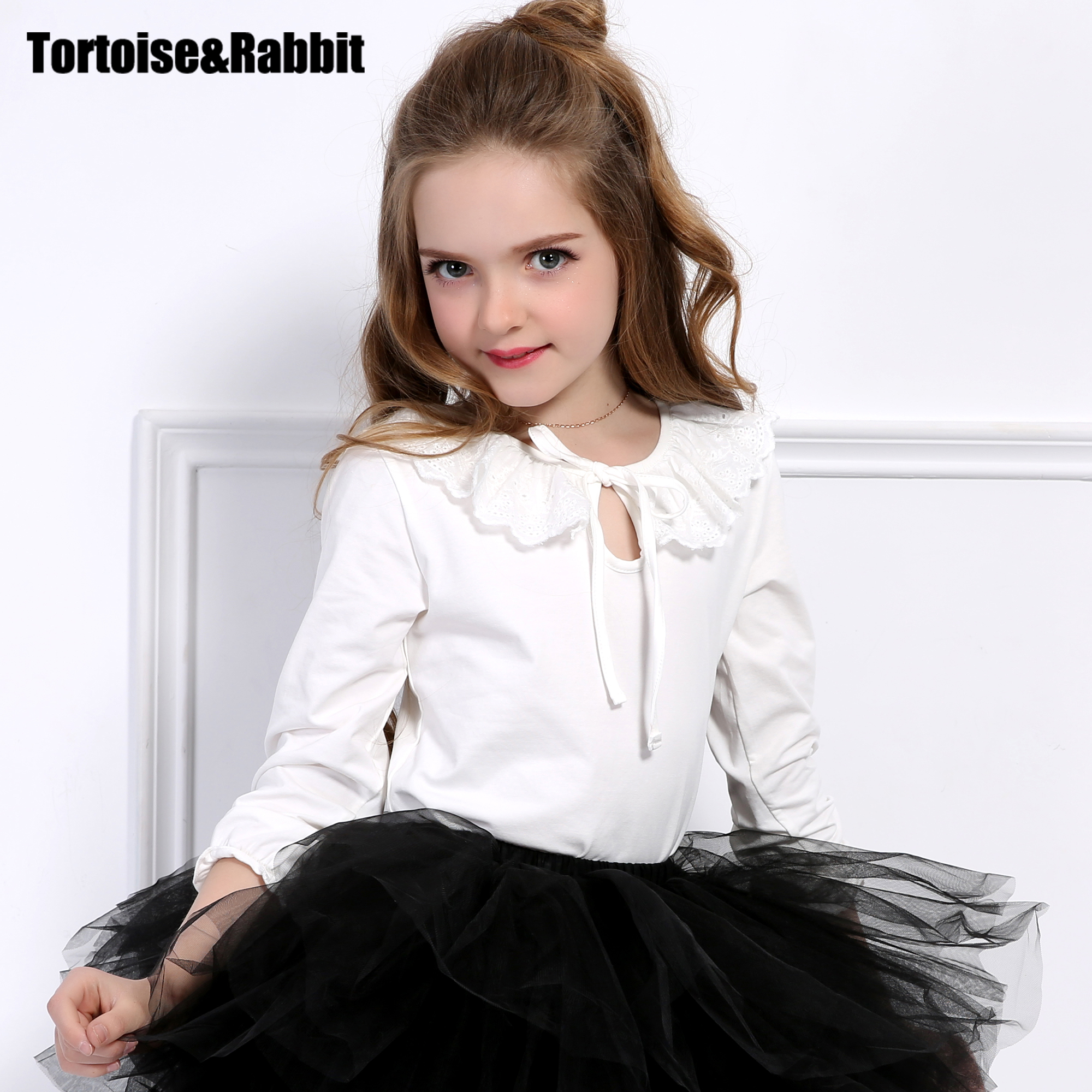 TORTOISERABBIT Kids T Shirts Long Sleeve Girls