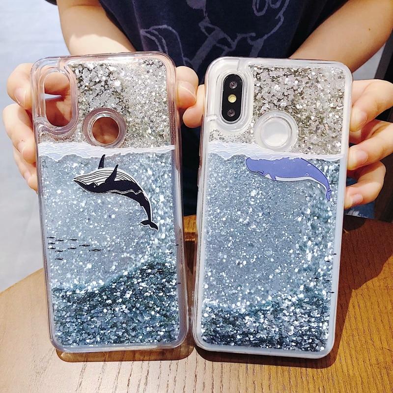 Dynamic Liquid Case for xiaomi redmi note 6 pro Glitter