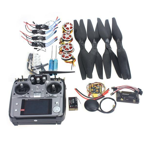 F05422-H Foldable Rack RC Quadcopter Kit APM2.8 Flight Control Board+GPS+750KV Motor+15x5.5 Propeller+30A ESC+AT10 TX f02015 f 6 axis foldable rack rc quadcopter kit with kk v2 3 circuit board 1000kv brushless motor 10x4 7 propeller 30a esc