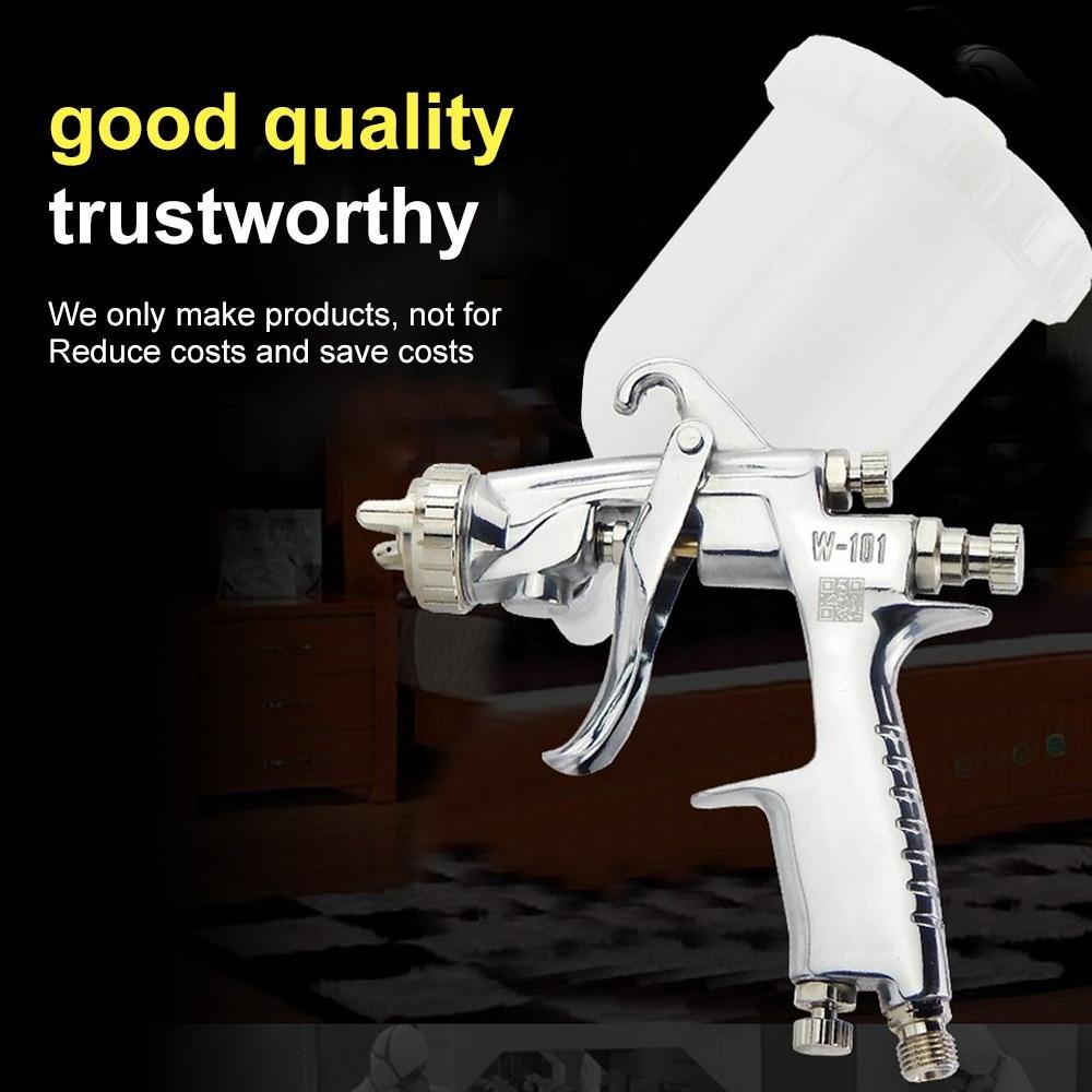 W 101 Paint Spray Gun Airbrush 400cc Cup Spary Gun Manual Air 0.8/1.0/1.3/1.5/1.8mm Nozzle HVLP Painting Gun for Car/Furniture