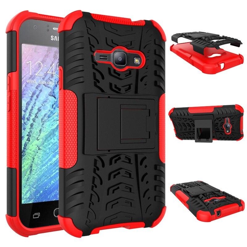 Hybrid Spider Hyun Pattern Phone Case Rugged Cover Shell Bracket For Samsung J1 2016 J1 ace J1