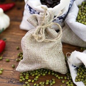 Image 3 - Nowa bawełniana tkanina lniana torba prezentowa samoblokujące torby ręcznie robione torebki fotografia rekwizyty do torebek ziarna ziarna kawy