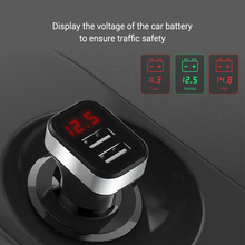 5V USB Car-Charger with LED Screen Smart Auto Car Charger Adapter Charging for iPhone 7 Samsung Xiaomi Car Mobile Phone chargers