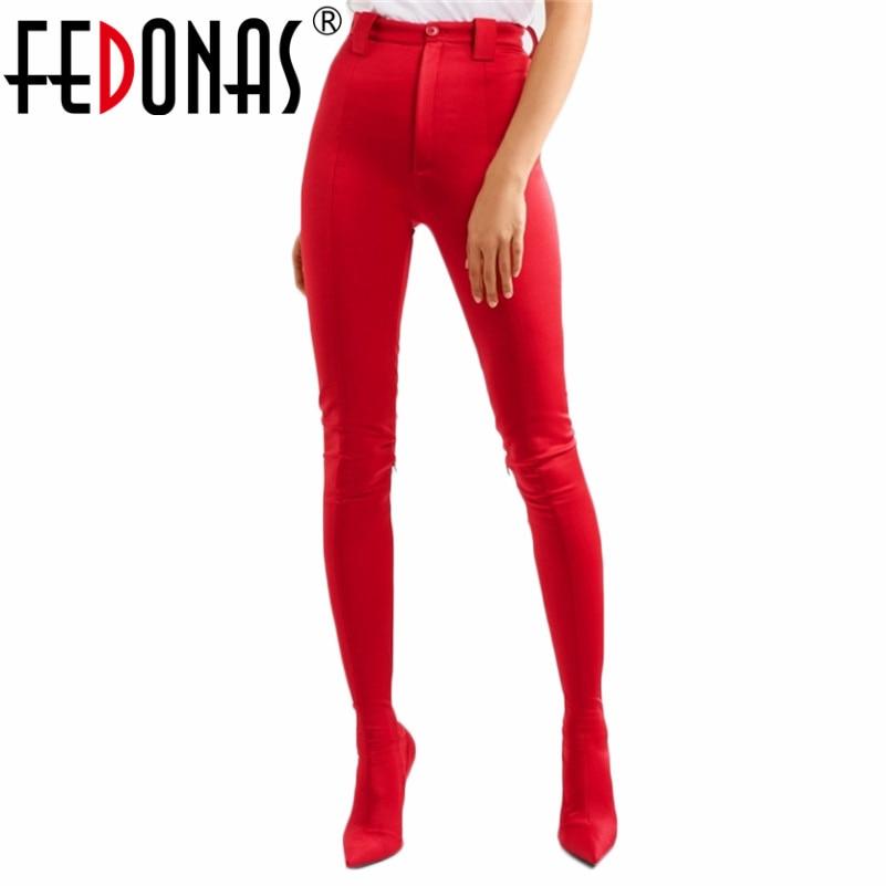 FEDONAS mode femmes Sexy chaussures serré haute fête chaussures de danse femme talons hauts pointus bottes de danse étoiles célèbres mêmes bottes