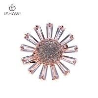 Sevimli Sunflow Broşlar Pin Up Kadınlar Için Takı Düğün Elbise Suit Şapka Klipler Altın-renk Corsages Marka Anne Hediye Bijoux
