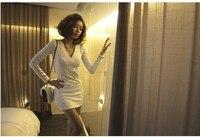 бесплатная доставка viviосень тонкий хип уплотнение с V-бюстгальтер провода Doubt с ди Recover платье