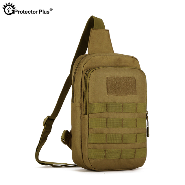 PROTECTOR PLUS bolsa táctica para el pecho, 10 pulgadas, impermeable, militar, para deportes al aire libre, ciclismo, Camping, bolsa de pesca