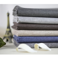 Environmental Protection Waterproof Coating Cloth Curtain Linen 6 Color Sense Of Color Paper Linen Cloth Home