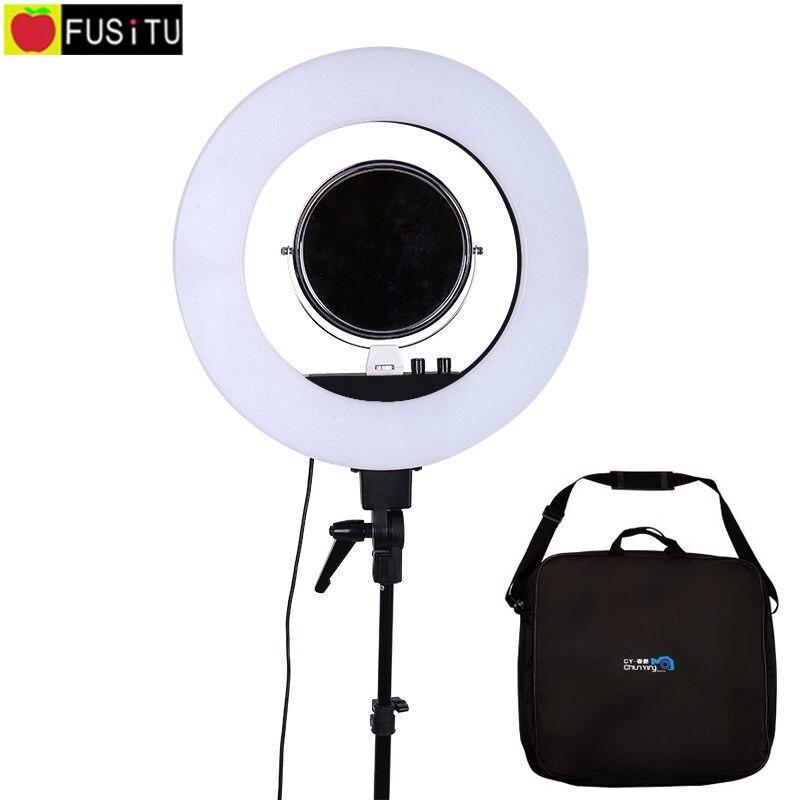 Fusitu 18 5500K Dimmable LED Adjustable Ring Light 480 led 5500K Camera Macro Ring Light for Makeup & Beauty Photography/Video осветитель fst ef 100 led sun light 5500k