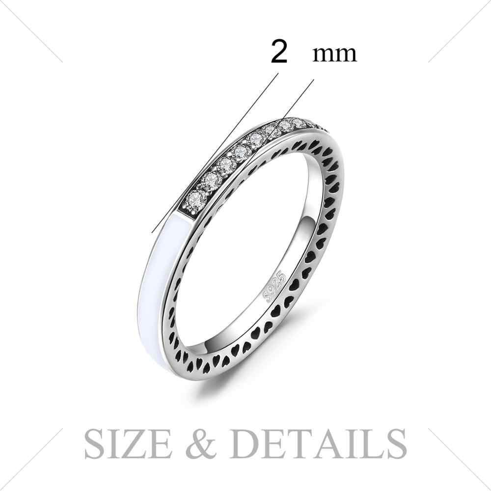 Jpalaceチャンネルリング 925 スターリングシルバーリング女性用スタッカブル結婚指輪永遠バンドシルバー 925 ジュエリーファインジュエリー