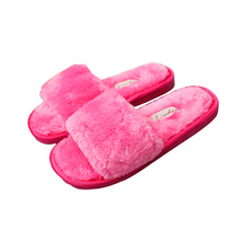 Autumn And Winter Home Shoes Women Word Plush Cotton Slippers Indoor Warm Lovers Slippers Flat Bottomt Non-Slip Plush Shoes недорго, оригинальная цена