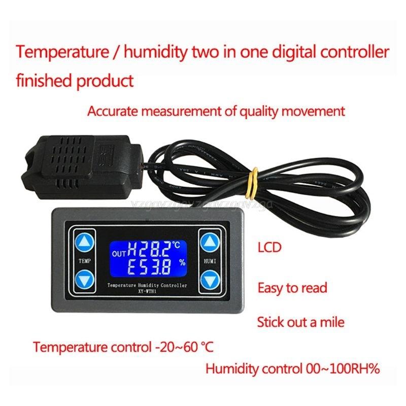 XY-WTH1 Digital Humidity & Temperature Controller Thermostat Hygrometer Regulator My30 19 DropshipXY-WTH1 Digital Humidity & Temperature Controller Thermostat Hygrometer Regulator My30 19 Dropship