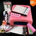 Nail Art Pro envío DIY Conjunto Completo Empapa de Polaco Ultravioleta Del Gel set de manicura 36 W Que Cura La Lámpara Kit Conjunto de herramientas de uñas de gel de uñas