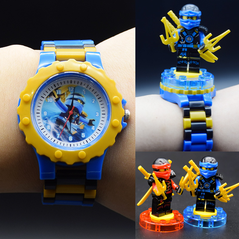 Super Hero Series Building Blocks Watch Children Kids Watch Electronic Cartoon Children Watch
