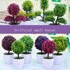 Simulation Potted Plant Bonsai Flower Vase Home Decoration Flowers Arrangement Artificial Flower Home Accessories