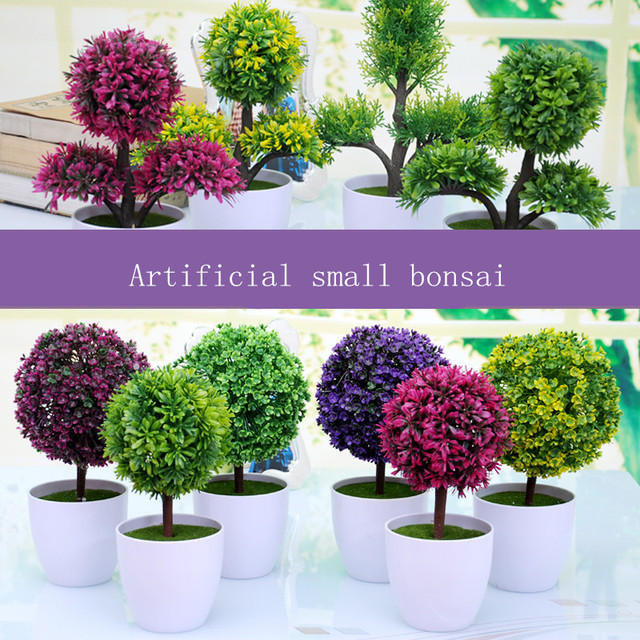 Attirant Grass Ball Small Bonsai Creative Green Velvet Potted Artificial Plant  Flowers Gardening Decoration Office Decorate Home