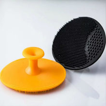 Color Random! Facial Exfoliating Brush Infant Baby Soft Silicone Wash Face Cleaning Pad Skin SPA Scrub Cleanser Tool(China)