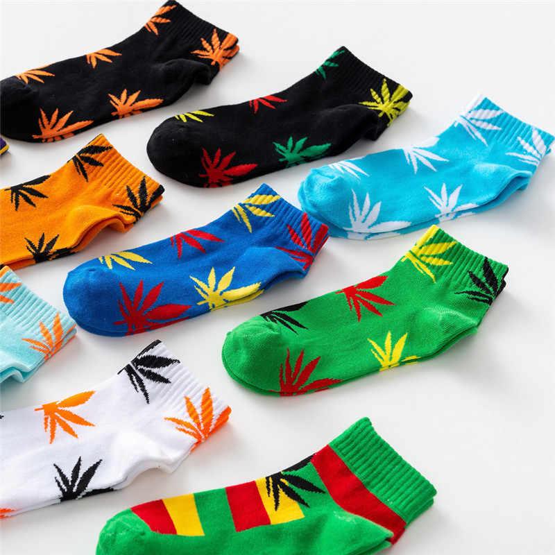 Yeni Bahar Yaz Pamuk Harajuku Kaykay Hip Hop Maple Leaf Çorap Sokak Tekne Çorap Erkek/kadın Komik Kısa çorap 1 Çift