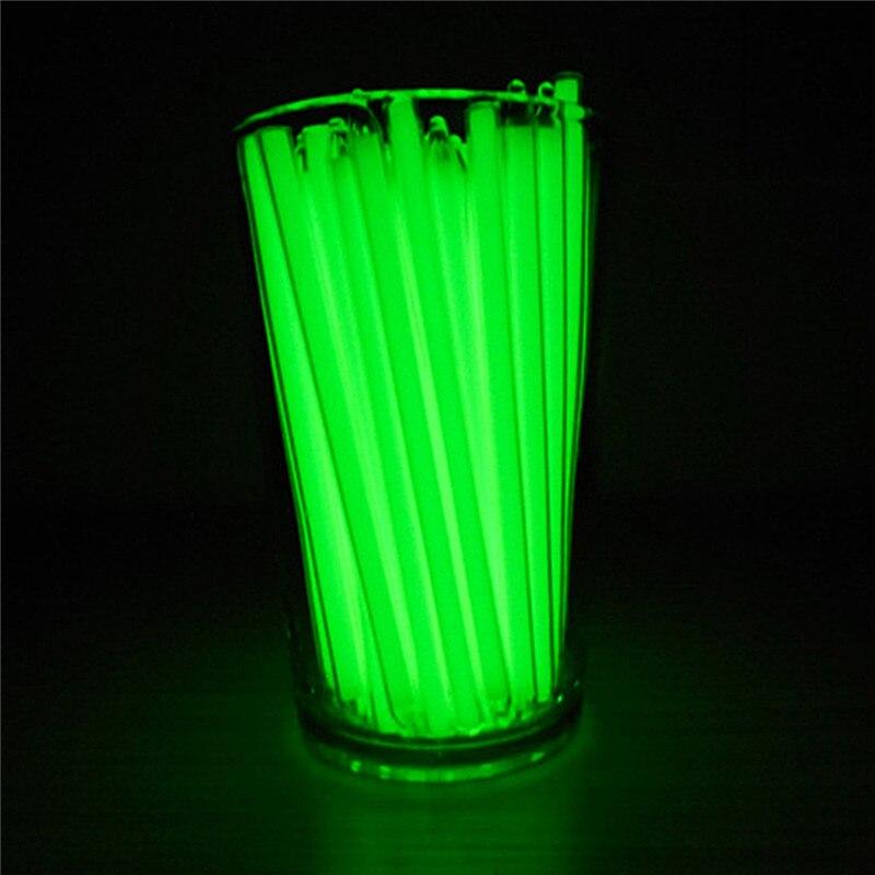 New Waterproof 5x100mm Trit Vials Tritium Self-luminous 15-Years Survival Emergency Light Green