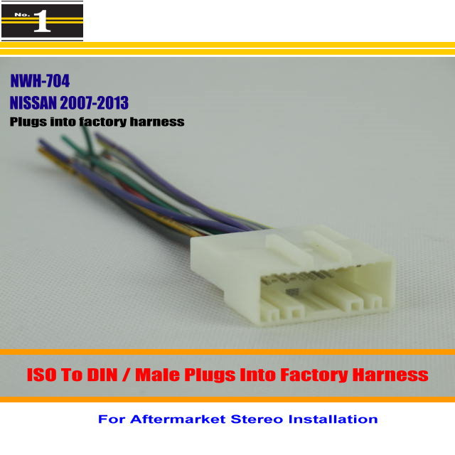 For NISSAN Pathfinder Quest Rogue font b Male b font font b ISO b font font swh 924 wire harness su6 radio antenna adapter wiring wiring  at bayanpartner.co