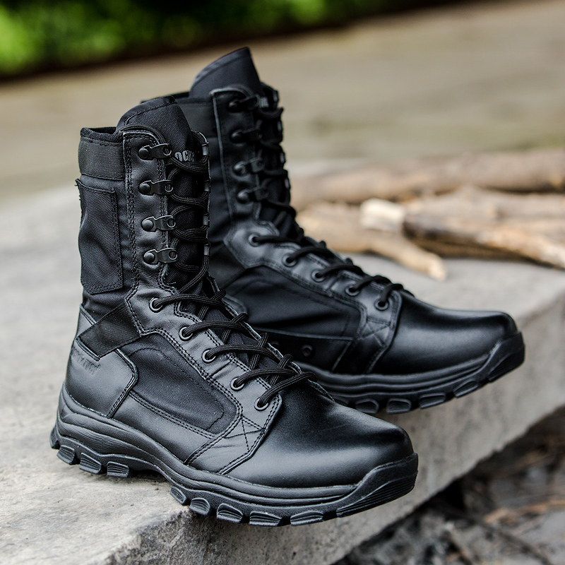 2017 New Trend Mountain Boots Couples Black Leather Hiking Boots Men Women Mountain Climbing Sneakers Wearable Trekking Shoes kelme 2016 new children sport running shoes football boots synthetic leather broken nail kids skid wearable shoes breathable 49