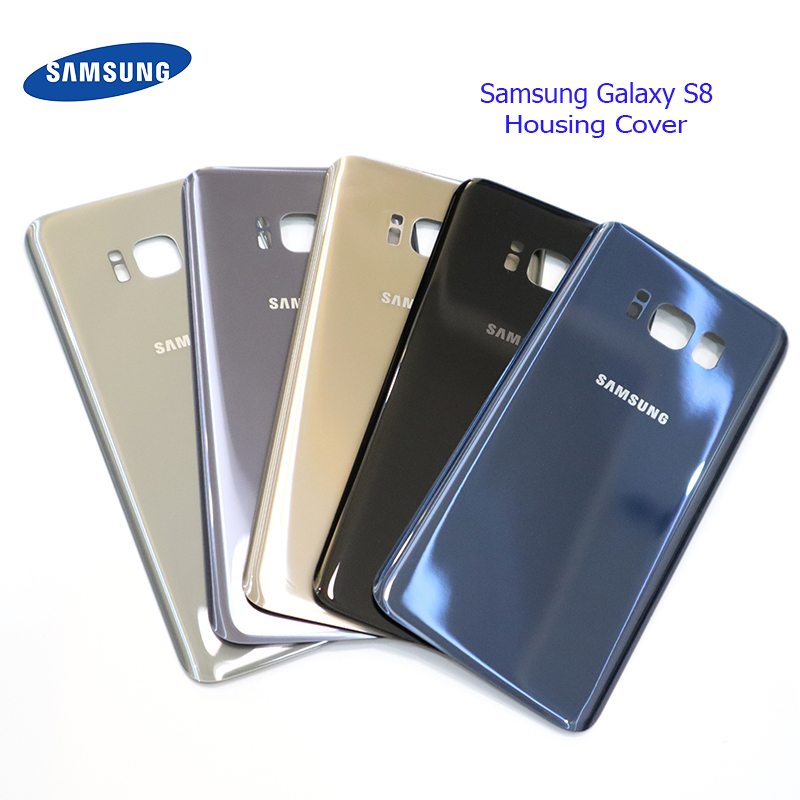 Samsung Battery-Case Sticker Housing-Cover Replacement Glass S8 Galaxy Original Adhesive