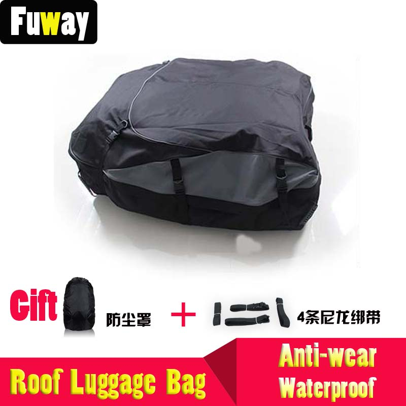DHL Free Shipping!!!Oxford fabric roof luggage bag nonrigid car waterproof dust-resistant onside outside box suitcase ceiling au free shipping 2018 uglyuros motorcycle retro back seat bag 883modified car multi function kit bag moto bag with waterproof cover