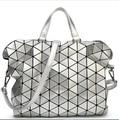 2016 Women Laser BAOBAO Bag Geometry Package Sequins Saser Plain Folding Handbags Briefcase Shoulder Bag Women Tote bag baobao