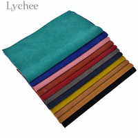 Lychee Life 1 PC 21x29cm A4 Suede PU Leather Fabric High Ouality Synthetic Leather DIY Material For Garments Handbag Belts
