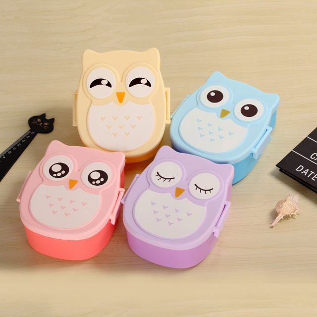 Kawaill Cartoon Owl Lunch Box