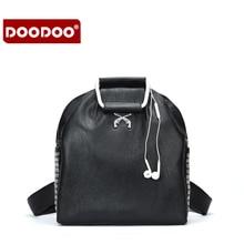 Doodoo Новые поступления женские рюкзак для 15.6 дюймов ноутбук рюкзак большой Ёмкость Повседневная Стиль женщин сумка студент PU Рюкзак