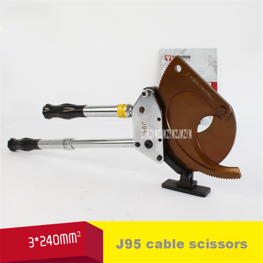 New Ratchet Cable Scissors 3 * 240 mm2 or Diameter 95mm Following Copper Aluminum Core Armored Cable Scissors J95 Cable Cutter three core xlpe insulated steel tape armored pvc pe sheathed pure copper power cable rated voltage 0 6 1kv yjv22 3 150mm2