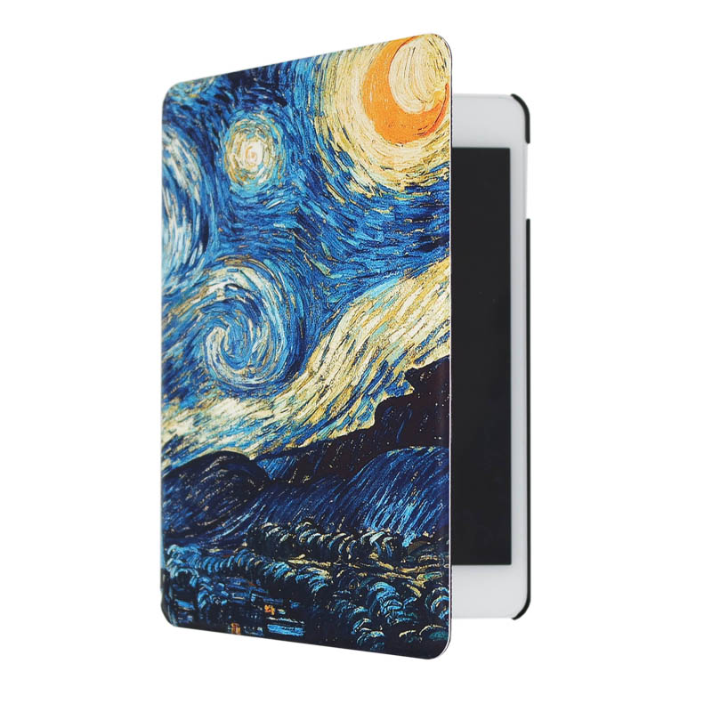 For Apple iPad mini 1 2 3 4 case cover Auto sleep and auto wake stand function Great Wave Yellow Color  on AliExpress