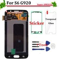 HD Super AMOLED Display LCD Touch Screen Digitador para Samsung Galaxy S6 G920 G920F G920i G920A LCD Nova Relacement