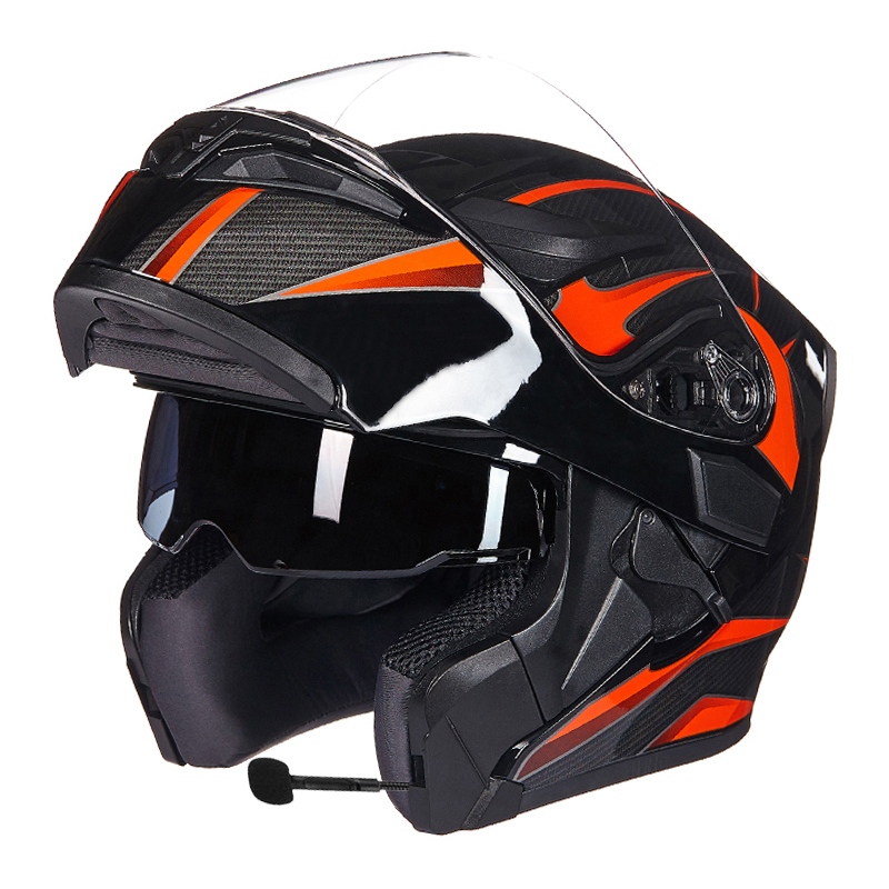 GXT Motorcycle Protective Gears Helmets ECE dot for waterproof bluetooth helmet casque moto Washed Inner Flip Up MOTO helmet