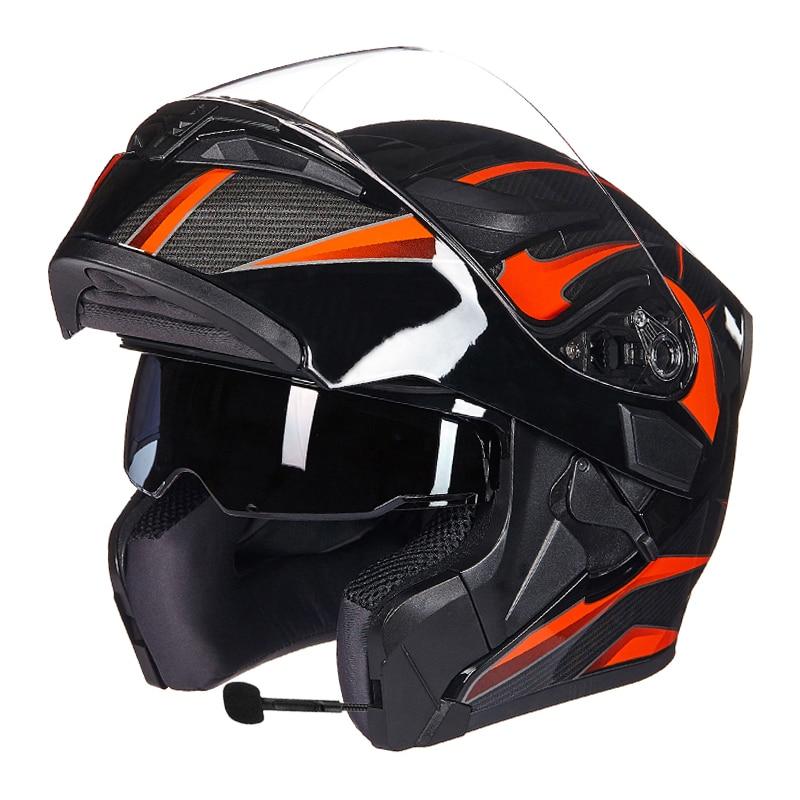 GXT Motorcycle Protective Gears Helmets ECE dot for waterproof bluetooth helmet casque moto Washed Inner Flip Up MOTO helmet-in Helmets from Automobiles & Motorcycles