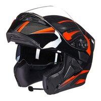 Gxt moto rcycle capacetes de proteção capacetes ece dot para à prova dwaterproof água bluetooth capacete casque moto lavado flip up interior capacete