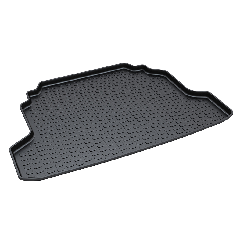 Car Trunk Tray Mat for Hyundai Elantra,2011 Black Durable Protector Cover in Heavy Duty trunk tray mat for honda odyssey 2013 2017 premium waterproof anti slip car trunk cover in heavy duty black
