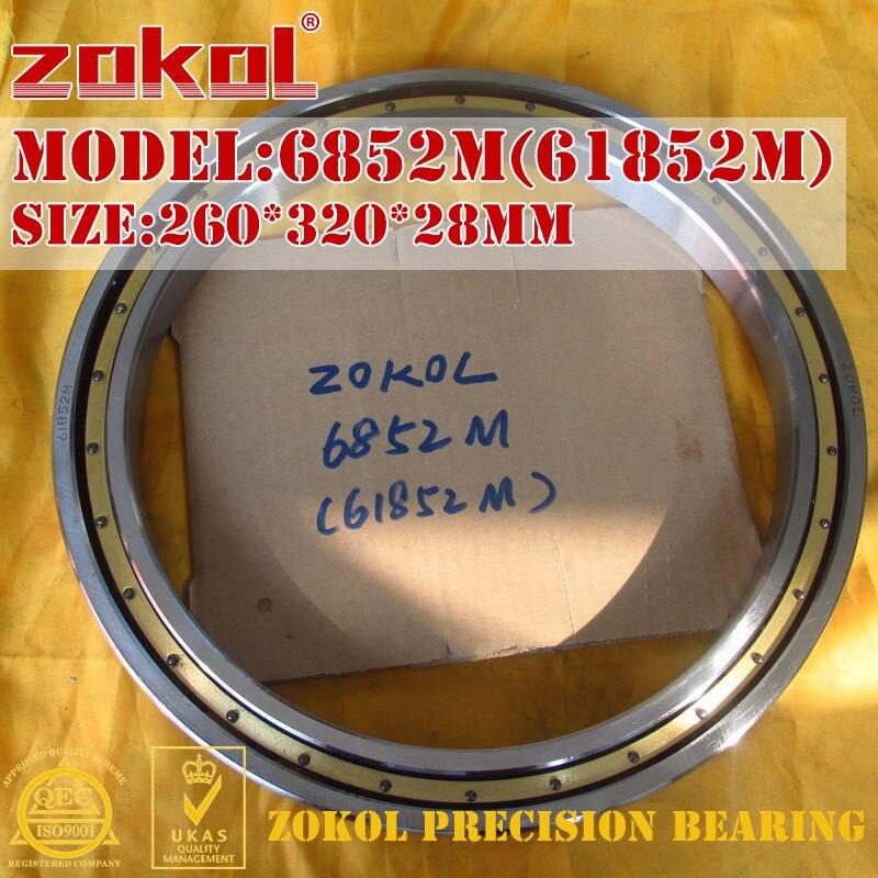 ZOKOL bearing 6852M 61852M 1000852H Deep Groove ball bearing 260*320*28mm zokol bearing 6218 open no dust cover 218 deep groove ball bearing 90 160 30mm