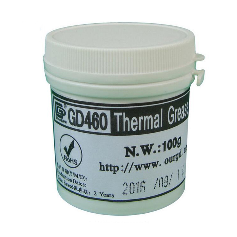 100 Grams Silver GD460 Conductive Heatsink Plaster Thermal Grease For LED CPU Cooler gd brand thermal conductive grease paste silicone plaster gd460 heat sink compound net weight 1000 grams silver for led cn1000
