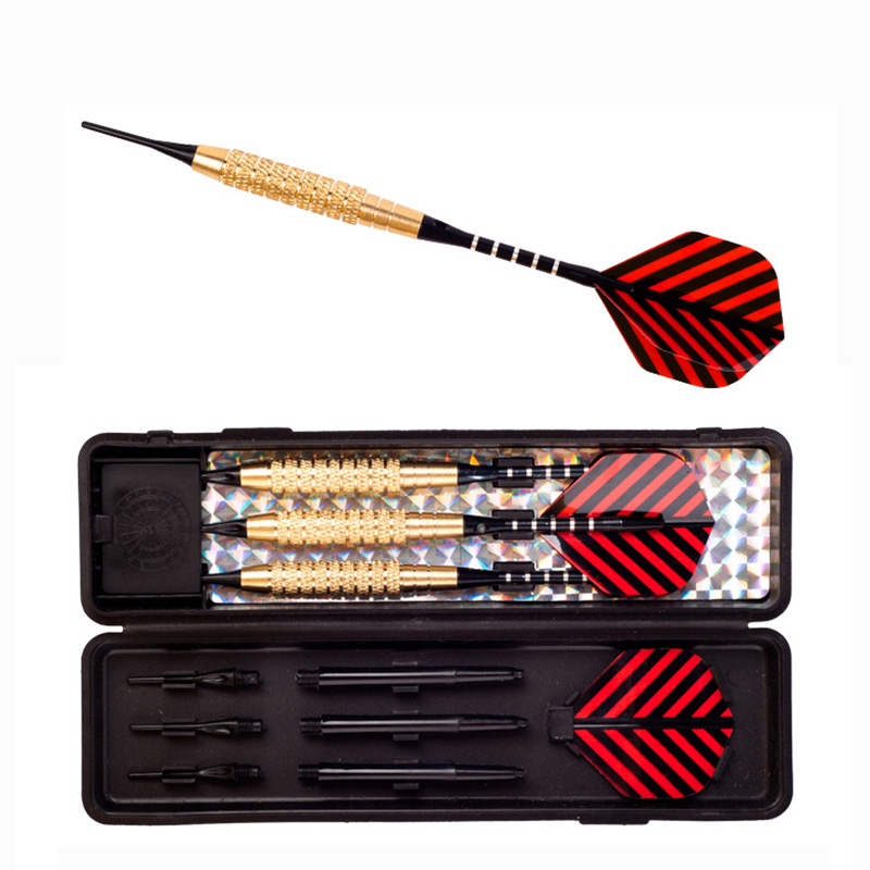 3 PCS/LOT High Quality 18 Grams Red/Black Stripes PET Soft Tip Darts Iron Darts Professional Darts SET Safety Indoor Game