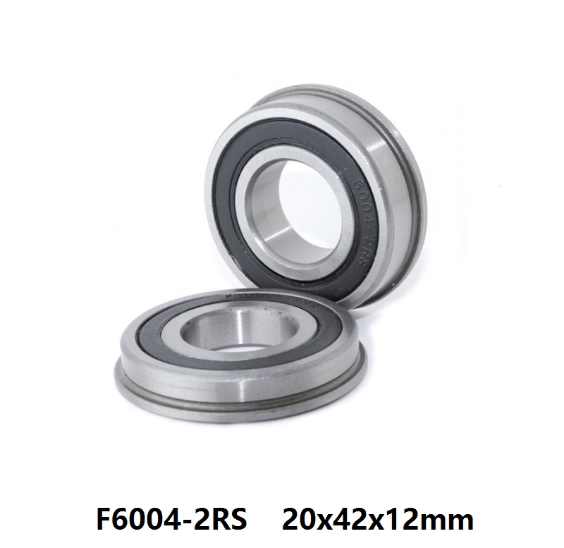 100pcs lot F6004 2RS F6004RS F6004 2RS RS Flanged Bearing 20x42x12mm flange deep groove ball bearings