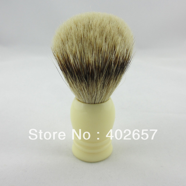 SilverTip Badger Shaving Brush Faux Ivory  Resin Handle 20MM KNOT ,SI0320FI