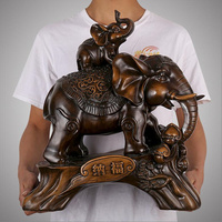 European Luxury Resin Elephant Crafts Animal Ornaments Creative Home Furnishing Office Decoration Auspicious Wedding Gift