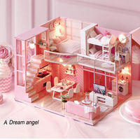 Doll House Furniture DIY Miniature Model Dollhouse Toys for Children Adults Gifts Simulation Modern apartments 24.5x20.5x15.5 cm