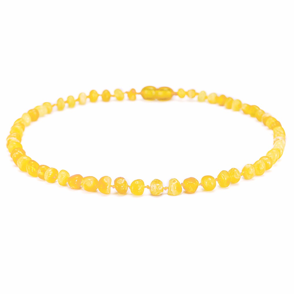 Amber Teething Necklace Bracelet for Baby Butterscotch 3 Sizes Natural Stone Diy Beads Necklace Handmade Jewelry in Necklaces from Jewelry Accessories