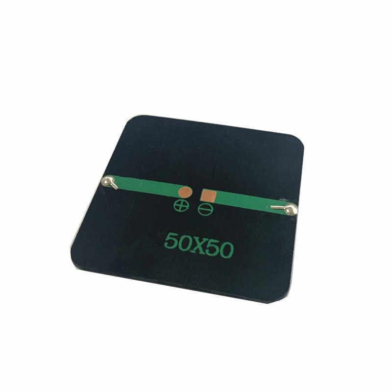 1 قطعة أحادية صغيرة 50*50 مللي متر لوحة طاقة شمسية 2 فولت 160MA ل لوحة شمسية مصغرة شحن وتوليد الكهرباء