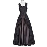 Belle Poque Women S Gothic Victorian Style 40s 50s Retro Dress Female Maxi Tank Sexy Floral
