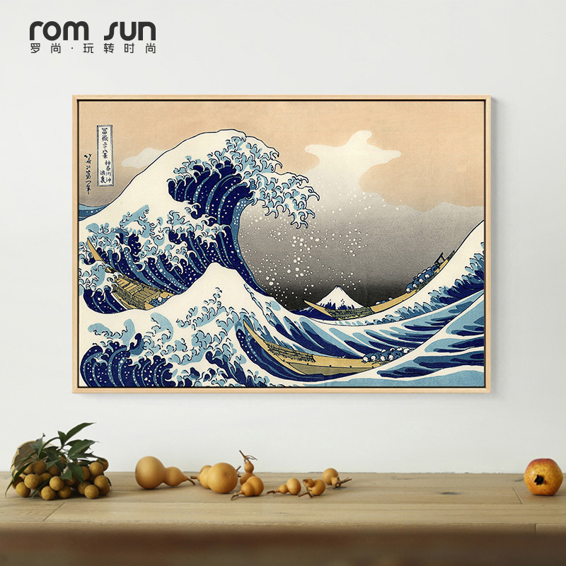 Abstract Japanese Sunrise Posters The Great Wave Off Kanagawa Poster Popular Seascape Japanese Anime For Bedroom Decoration Deco